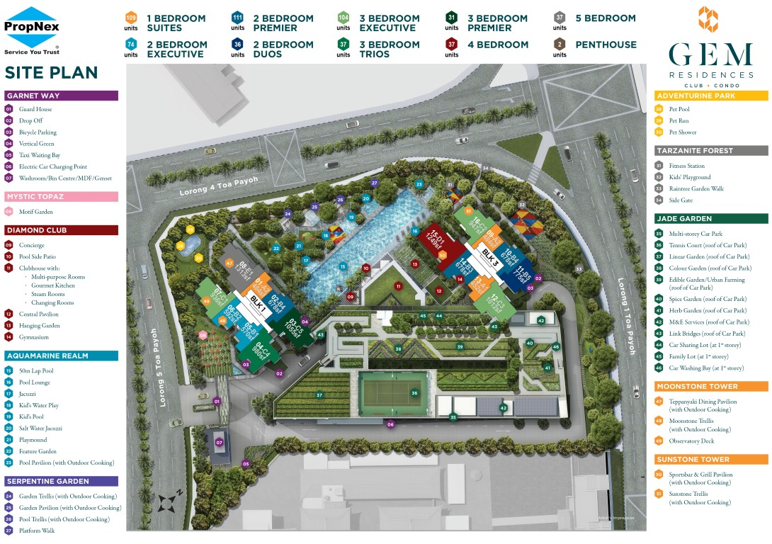GEM Residences-Site plan