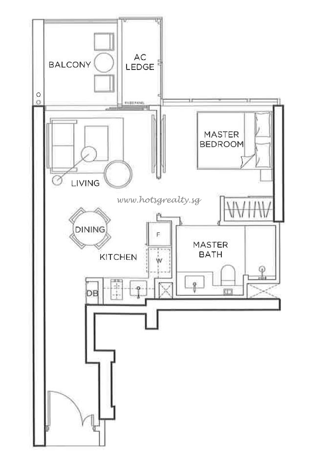 1 Bedroom Type A2 484sqft website
